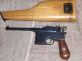 MAUSER BROOMHANDLE.1899 ITALIAN NAVY CONTRACT, WITH STOCK.EXTREMELY RARE!!!!