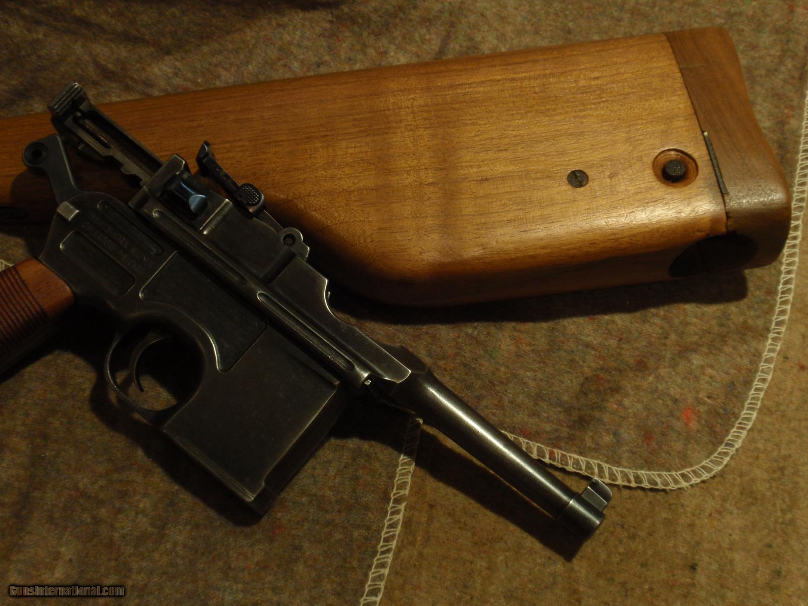 C96 Broomhandle Mauser Late Post War Bolo With Matching