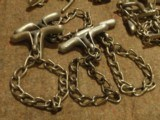 POLICE COME-ALONG CHAIN TWISTER WRISTCUFF/HANDCUFF.