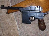 C96 BROOMHANDLE SHANSEI .45ACP.MATCHING STOCK & LEATHER HARNESS.VERY EARLY SERIAL#89X.VERY RARE!!EXCELLENT CONDITION!!