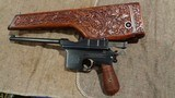 """ASTRA 900 BROOMHANDLEBRITISH PROOFS.BRITISH CREST.SPECIAL-ORDER 180MM BARREL.MATCHING """"VINE & SCROLL"""" CARVED STOCK.EXTREMELY RARE! - 12 of 12"""