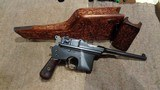 ASTRA 900 BOLO GRIP HOPE CHAMBERFACTORY SPECIAL-ORDER 9MM CALIBRE AND 160MM BARREL.ALL-MATCHING.FULLY-CARVED & NUMBERED STOCK.EXTREMELY RARE!! - 3 of 12