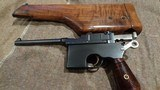 MAUSER C96 BROOMHANDLEITALIAN NAVY CONTRACT #71X.MATCHING STOCK.EXTREMELY EARLY PRODUCTION!!EXCELLENT CONDITION!!EXTREMELY RARE!!! - 7 of 13