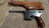 MAUSER C96 BROOMHANDLEITALIAN NAVY CONTRACT #71X.MATCHING STOCK.EXTREMELY EARLY PRODUCTION!!EXCELLENT CONDITION!!EXTREMELY RARE!!! - 1 of 13