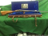 Frank E. Malin 20GA Sidelock SXSTwo Barrel Set, Engraved, Gold Inlaid, Cased with Accessories - 2 of 15