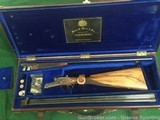 Frank E. Malin 20GA Sidelock SXSTwo Barrel Set, Engraved, Gold Inlaid, Cased with Accessories