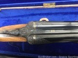 Frank E. Malin 20GA Sidelock SXSTwo Barrel Set, Engraved, Gold Inlaid, Cased with Accessories - 3 of 15