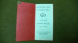 COLT ORIGINAL FACTORY FOLD OUT MANUAL FOR THEIR AUTOMATIC GUN -MODELE 1914