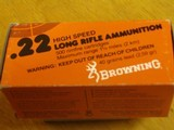 BROWNING .22 CAL. COLLECTIBLE AMMO CARTON FOR 500 CARTRIDGES FOR 10 BOXES OF 50 - COLLECTIBLE - HARD TO FIND OR RARE - 8 of 9