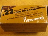 BROWNING .22 CAL. COLLECTIBLE AMMO CARTON FOR 500 CARTRIDGES FOR 10 BOXES OF 50 - COLLECTIBLE - HARD TO FIND OR RARE - 5 of 9