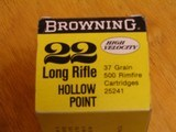 BROWNING .22 CAL. COLLECTIBLE AMMO CARTON FOR 500 CARTRIDGES FOR 10 BOXES OF 50 - COLLECTIBLE - HARD TO FIND OR RARE - 3 of 9