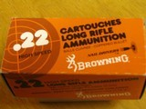 BROWNING .22 CAL. COLLECTIBLE AMMO CARTON FOR 500 CARTRIDGES FOR 10 BOXES OF 50 - COLLECTIBLE - HARD TO FIND OR RARE - 7 of 9