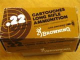 BROWNING .22 CAL. COLLECTIBLE AMMO CARTON FOR 500 CARTRIDGES FOR 10 BOXES OF 50 - COLLECTIBLE - HARD TO FIND OR RARE - 4 of 9