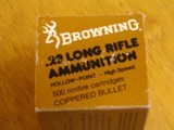 BROWNING .22 CAL. COLLECTIBLE AMMO CARTON FOR 500 CARTRIDGES FOR 10 BOXES OF 50 - COLLECTIBLE - HARD TO FIND OR RARE - 6 of 9