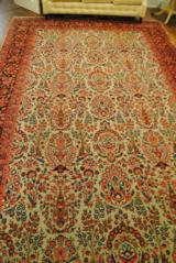 ANTIQUE KASHAN ORIENTAL RUG FROM 1920'S - 10' X 16' - FOR YOUR GUNROOM