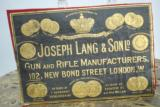 VINTAGE JOSEPH LANG & SONS LEATHER TRADE LABEL