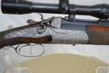 FERLACH AUSTRIA HAMMER OU CAPE GUN - HIGHLY ENGRAVED - 16 GA / 7.57R - MOUNTS/CLAWS/SCOPED