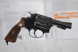 SMITH & WESSON MODEL 36 - SPECIAL ORDER VARIATION WITH FACTORY LETTER