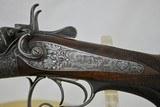"""GEBRUDER DAMM - HIGHLY ENGRAVED 16 GAUGE HAMMER GUN WITH 31"""" BARRELS - ANTIQUE - 8 of 25"""