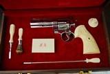 VINTAGE COLT PYTHON IN BRIGHT STAINLESS - PRESENTATION CASE WITH ACCESSORIES - A GEM - 1987 GUN