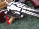 """Uberti Cattleman Nickel, 4 3/4"""" Birdshead Grip 45 LC - 9 of 15"""