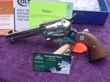 """Colt Custom Shop Single Action Army. 4 3/4"""" 44-40 Nickle.LNIB"""