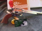 """Colt Single Action Army. 7 1/2"""" 44 Special Nickel, w/box and manual"""