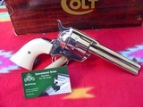 "colt single action army, 4 3/4"" 44 special,nickel box manual"