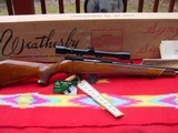Weatherby Mark XXII Deluxe,factory scope, box, papers,hang tag.