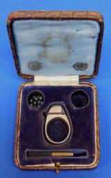 "Petit ""Defender"" Ring Pistol with Case (RARE) - 1 of 8"
