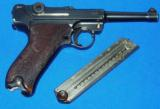 German P.08 Luger Pistol with Police Academy Markings - 1 of 11
