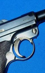 German P.08 Luger Pistol with Police Academy Markings - 9 of 11