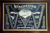 Winchester Vintage Double W Bullet Board Lithograph