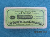 UMC .44 Winchester (44-40) 2-Piece Antique Ammo & Box