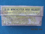 Winchester 50-110 Winchester High Velocity Smokeless Cartridges, Full Box, Circa 1905-1907