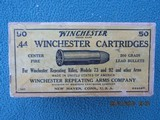 Winchester 44 Winchester Cartridges, Center Fire, Full Box, K4406T Code