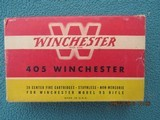 Winchester 405 Winchester Red/Yellow Box, Full, Late 40s to mid 50s Vintage