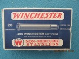 Winchester 405 Winchester Soft Point Blue/White Staynless, Full, Circa 1928-1932
