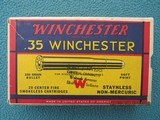 Winchester 35 Winchester Red/Yellow/Blue Box, Full, Circa 1939-1945