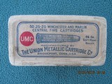 UMC 25-20 Winchester and Marlin Central Fire Cartridges, Full, Factory Sealed