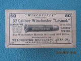"Ultra Rare 32 Winchester Center Fire ""Lesmok"" 50 Count Box, Full & Factory Sealed"