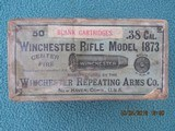 Winchester Rifle Model 1873 38 Cal Center Fire Blank Cartridges, Full & Factory Sealed
