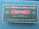 Remington Kleanbore Dogbone Box 30-30 Winchester, Marlin & Savage, Full