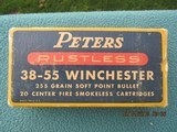 Peters Rustless 38-55 Winchester Ammo 255 Grain Soft Point