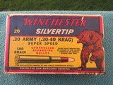 Winchester Super Speed Silvertip Grizzly Bear Box .30 Army (30-40 Krag)