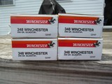 Winchester & Browning 348 Win Ammo Model 71 4 Full Original Boxes - 3 of 7