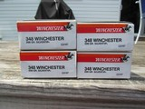 Winchester & Browning 348 Win Ammo Model 71 4 Full Original Boxes - 1 of 7