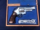 Pristine Cased S&W Model 57 Magnum in 4 Inch Nickel