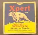 Empty Western Expert 12 GA U.S. Property Marked Shotshell box - 1 of 7