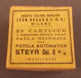 Leon Beaux & C. 8mm Roth Steyr Ammo - 1 of 3